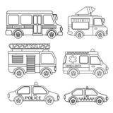 Vector set of special transport. vector illustration