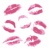 Print of volume pink lips Stock Images