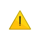 Print. Warning sign vector illustration. Danger flat element for web design and mobile app. Caution high quality flat icon for design printed material. Hazard Royalty Free Stock Images
