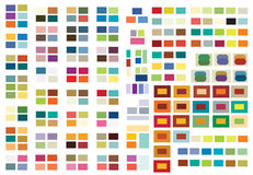 Print (or Web) Color Combinations. Complex and beautiful color combinations that work extremely well for print or that can be used, as shown, for web. Two, Three Stock Image