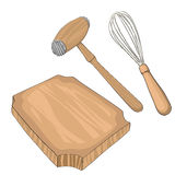 Wooden kitchen ustensils Royalty Free Stock Photo