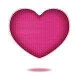 Print wool heart Royalty Free Stock Image