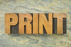 Print word typoigraphy Stock Photos