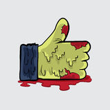 Print. Zombie like hand vector file for anything in halloween Stock Photo