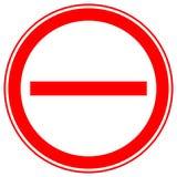 Printable ограничение, запрет подписывает, запретительные дорожные знаки Стоковые Изображения