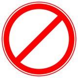 Printable ограничение, запрет подписывает, запретительные дорожные знаки Стоковое Фото
