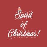 Printable дух вектора Xmas рождества Стоковые Изображения