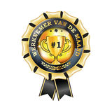 Printable award ribbon for dutch companies - Employee of the Month Stock Photography