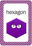 Printable Baby Shape Flash card, Hexagon Stock Photos
