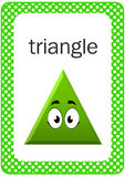 Printable Baby Shape Flash card, Triangle stock images
