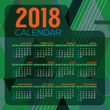 2018 Printable Calendar Starts Sunday Stock Photos