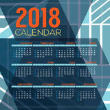 2018 Printable Calendar Starts Sunday Stock Images