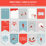 Printable Cards, Tags and Labels - Christmas Theme Stock Photos