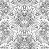 Vector Seamless Monochrome Pattern. Printable Coloring Pages. vector illustration