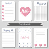 Printable cute design cards Stock Images