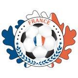 Printable France football team label. Stock Photo