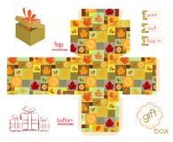Printable Gift Box Fall Season Stock Image