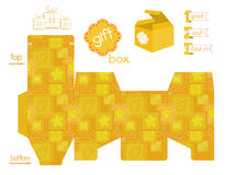 Printable Gift Box Patchwork Pattern Royalty Free Stock Image