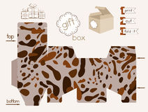 Printable Gift Box With Spotted Pattern Stock Photography
