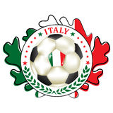 Printable Italy football team label. Royalty Free Stock Image
