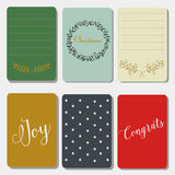 Printable journaling christmas cards, happy new year  Royalty Free Stock Photography