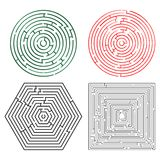Printable mazes collection. Against white background, abstract vector art illustration Royalty Free Stock Photo