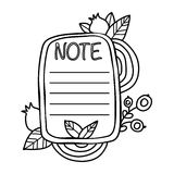 Printable `Notes` sticker. Royalty Free Stock Photography