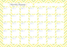 Printable Planner. Printable diary page for monthly planning. Universal paper page for notebook, organizer, planner Royalty Free Stock Image