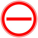 Printable restriction, prohibition signs, prohibitive road signs Stock Images
