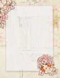 Printable rocznika szyka stylu podławego kwiatu czarodziejski stacjonarny lub tło ilustracji