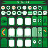 Printable set świętego Patrick przyjęcia elementy Obraz Royalty Free