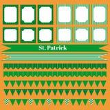 Printable set świętego Patrick przyjęcia elementy Zdjęcie Royalty Free