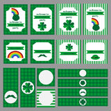 Printable set of saint patrick party elements. Stock Photography