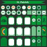 Printable set of saint patrick party elements. Royalty Free Stock Image