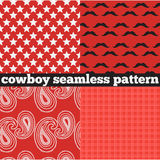 Printable set of vintage cowboy party elements Stock Image