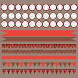Printable set of vintage Lumberjack party elements. Templates, labels, icons and wraps. Royalty Free Stock Photography