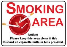 Printable Smoking area image Stock Photography