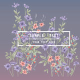 Printable spring wall art with floral pattern and typography Stock Photos