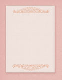 Printable vintage shabby chic style pink stationary with flourish embellishment Stock Images