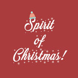 Printable Xmas vector Spirit Of Christmas Stock Images