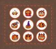 Printables de Halloween Imágenes de archivo libres de regalías