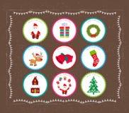Printables de la Navidad Imagenes de archivo