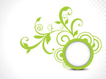Printabstract Green Floral Background Vector Illus Stock Photo