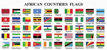 PrintAfrica countries flags collection royalty free illustration