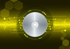 Printcd-dvd on digital background Royalty Free Stock Images