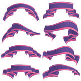 Printdecorative festive ribbons. Vintage decorative objects. illustration picture Royalty Free Stock Image