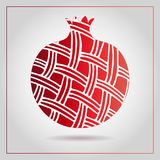PrintDecorative ornamental pomegranate made of swirl doodles. Vector abstract illustration of fruit logo for branding, poster or p. Decorative ornamental Royalty Free Stock Photo