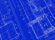 Printed Blueprint Stock Photos