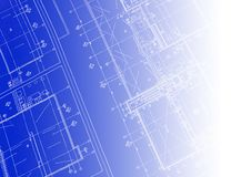 Printed Blueprint Stock Images