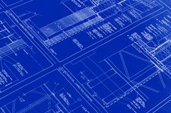 Printed Blueprint Royalty Free Stock Photo
